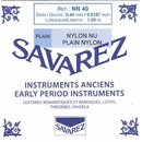 Nylon rectified Savarez 100 cm 0,52 mm