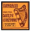 Savarez Harp Bass silk&steel silverplated wound